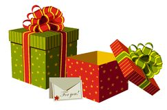 Christmas gifts boxes Royalty Free Stock Images