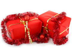 Christmas gifts boxes Stock Photo
