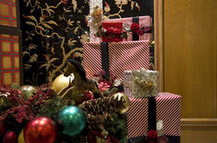 Christmas gifts boxes Royalty Free Stock Photo