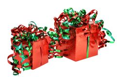 Christmas Gifts with Clipping Path Royalty Free Stock Photos