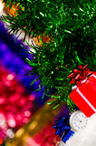 Christmas gifts and clock ticking minutes Royalty Free Stock Photos