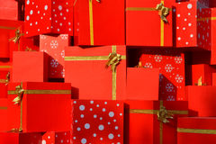 Christmas gifts. Close up of many Christmas gifts Stock Images