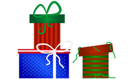 Christmas gifts collection Royalty Free Stock Photo