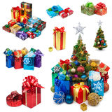 Christmas gifts collection Stock Images