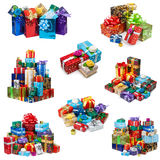 Christmas gifts collection Royalty Free Stock Photos