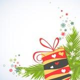 Christmas gifts corner decoration Stock Photos