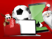 Christmas Gifts 3D Design Background Royalty Free Stock Images