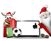 Christmas Gifts 3D Design Background Stock Photography
