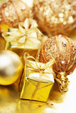 Christmas gifts and decoration Royalty Free Stock Photography