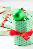 Christmas gifts and decoration Royalty Free Stock Photo