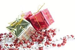 Christmas Gifts Decoration Isolated Royalty Free Stock Photos