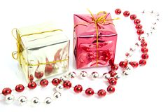 Christmas gifts decoration isolated Royalty Free Stock Images