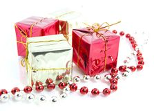 Christmas gifts decoration isolated Royalty Free Stock Image