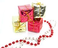Christmas gifts decoration isolated Royalty Free Stock Photography
