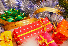 Christmas gifts and decorations Stock Photo