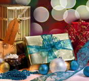 Christmas Gifts and Decorations Royalty Free Stock Images