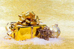Christmas gifts and decorations Stock Photos