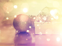 Christmas gifts and decorations with vintage effect Stock Image
