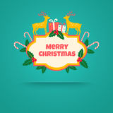 Christmas gifts and deers Stock Photography