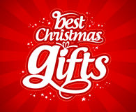 Christmas gifts design template. Stock Photography