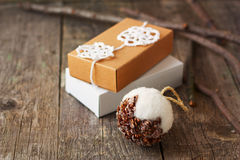 Christmas gifts,  eco-friendly style Stock Images