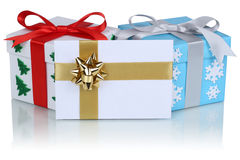Christmas gifts with envelope Stock Images