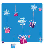 Christmas gifts falling Royalty Free Stock Photography