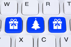 Christmas gifts gift online shopping ordering internet shop conc Stock Image