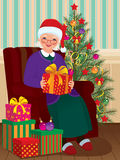 Christmas Gifts for Grandma Stock Photo