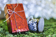 Christmas gifts. Christmas greetings, decoration and symbol xmas Royalty Free Stock Image
