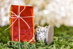 Christmas gifts. Christmas greetings, decoration and symbol xmas Stock Image