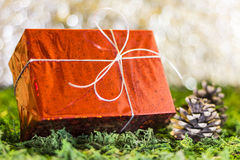 Christmas gifts. Christmas greetings, gift symbol xmas Stock Image