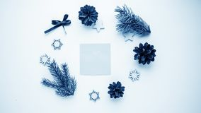 Christmas gifts and gifts for the holiday. Spruce branches and d royalty free stock image
