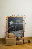 Christmas gifts at home Stock Images