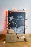 Christmas gifts at home Stock Photos