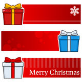 Christmas Gifts Horizontal Banners Set Royalty Free Stock Photo
