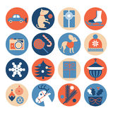 Christmas gifts icons. Icon set with silhouette of Christmas gifts vector illustration