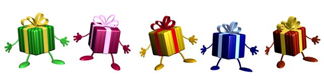 Christmas gifts illustration Stock Photo