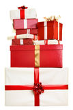 Christmas gifts isolated Stock Image