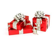 Christmas gifts isolated on white Royalty Free Stock Images