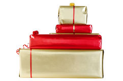 Christmas Gifts Isolated on White royalty free stock photography