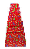 Christmas Gifts isolated on white. Stock Images