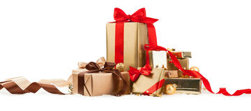 Christmas Gifts. Isolated on white background