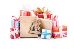 Christmas gifts isolated on white background Royalty Free Stock Photography