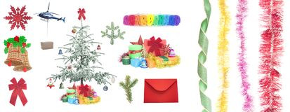 Christmas gifts and items Stock Photography