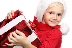 Christmas gifts, joy child Stock Image