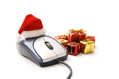 Christmas gifts on-line Royalty Free Stock Photography