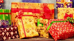 Christmas gifts stock video