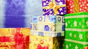 Christmas gifts stock video footage