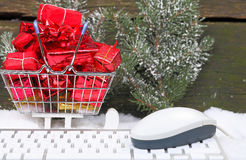 Christmas gifts ordered online. Fast delivery Stock Images